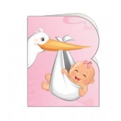 Paquete de 90 tarjetas troqueladas para bautizo/bebe Mod. 38376