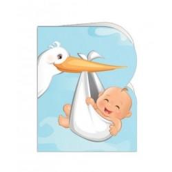 Paquete de 90 tarjetas troqueladas para bautizo/bebe Mod. 38377