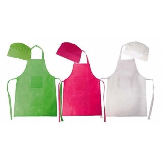 Set delantal y gorro cocinero niños colores 35066 - SevaImport ccab6ed25d0