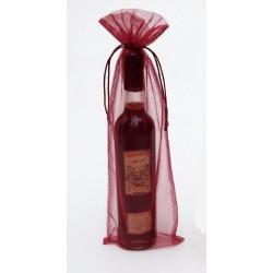 Bolsa Organza Vino/regalos Burdeos 14 x 41 (75cl)