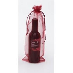 Bolsa Organza Vino/regalos Burdeos 13 x 35 (37,5cl)