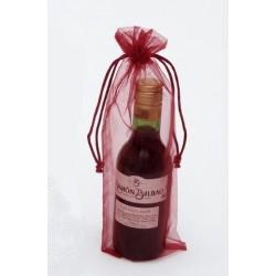 Bolsa Organza Vino/regalos Burdeos 10 x 26 (18cl)