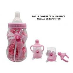 Cajita forma de biberón rosa 324672