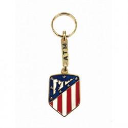 Llavero Atletico de Madrid escudo dorado