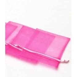 Bolsa organza 10 x 12 rosa chicle