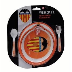Set Plato Microondas con Cuchara y Tenedor Valencia CF