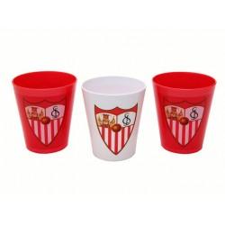 Set 3 Vasos Sevilla FC