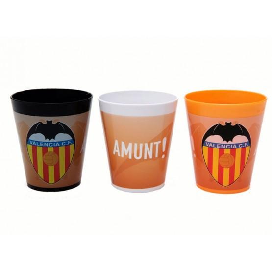 Set 3 Vasos Valencia CF