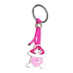 Llavero bebe rosa con pañal 716825