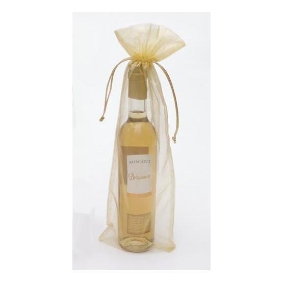 Bolsa Organza Vino/regalos Oro 14 x 41 (75cl)