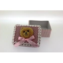 Cajita Bebe Rosa Oso