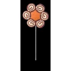 Alfiler de fimo Ref. 1079 Flor marron espirales