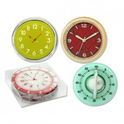 Jgo. 4 posavasos cristal diseño relojes Mod. 320557