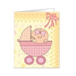 Paquete de 90 tarjetas troqueladas para bautizo/bebe Mod. 38347
