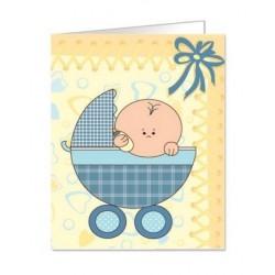 Paquete de 90 tarjetas troqueladas para bautizo/bebe Mod. 38346