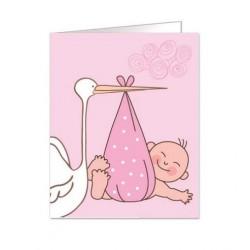 Paquete de 90 tarjetas troqueladas para bautizo/bebe Mod. 38348