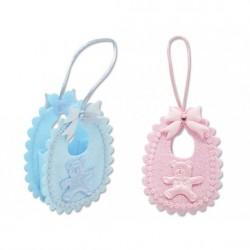 Mini bolsita forma babero rosa/azul 321133