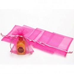 Bolsa organza 11 x 15 cm rosa chicle