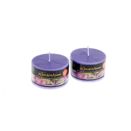 Vela perfumada violetas 250gr.en expositor de 6 uni. Mod. 037062