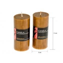 Vela perfumada tubo canela 220gr. en expo de 6 uni. Mod. 040185