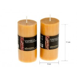 Vela perfumada tubo vainilla 220gr. en expo de 6 uni.Mod. 040192