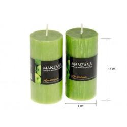 Vela perfumada tubo manzana 220gr. en expo de 6 uni. Mod. 040208