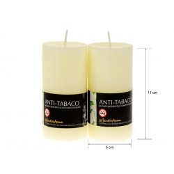 Vela perfumada tubo jazmin-antita. 220gr.expo. 6 uni.Mod.040321