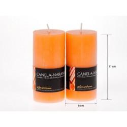 Vela perfumada tubo canela-naranja 220gr.expo.de 6uni.Mod.040338